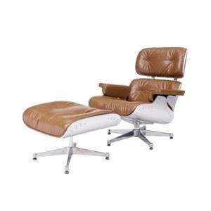 Grayson Lounge Chair and Ottoman, Caramel
