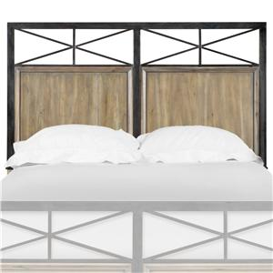 Next Generation by Magnussen Bailey Full Metal & Wood Headboard