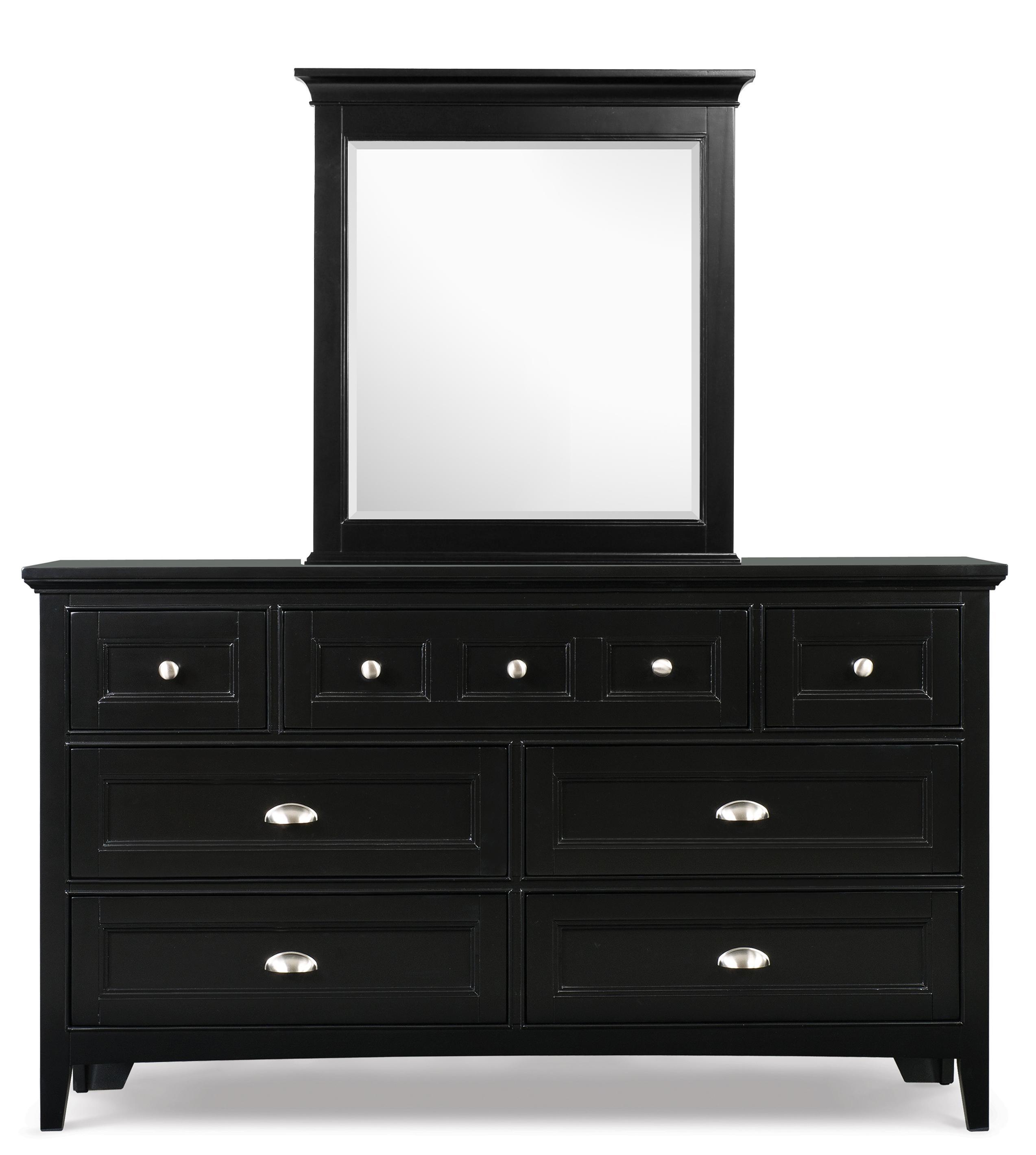 Next Generation by Magnussen Bennett Drawer Dresser and Portrait Mirror - Item Number: Y1874-20+42