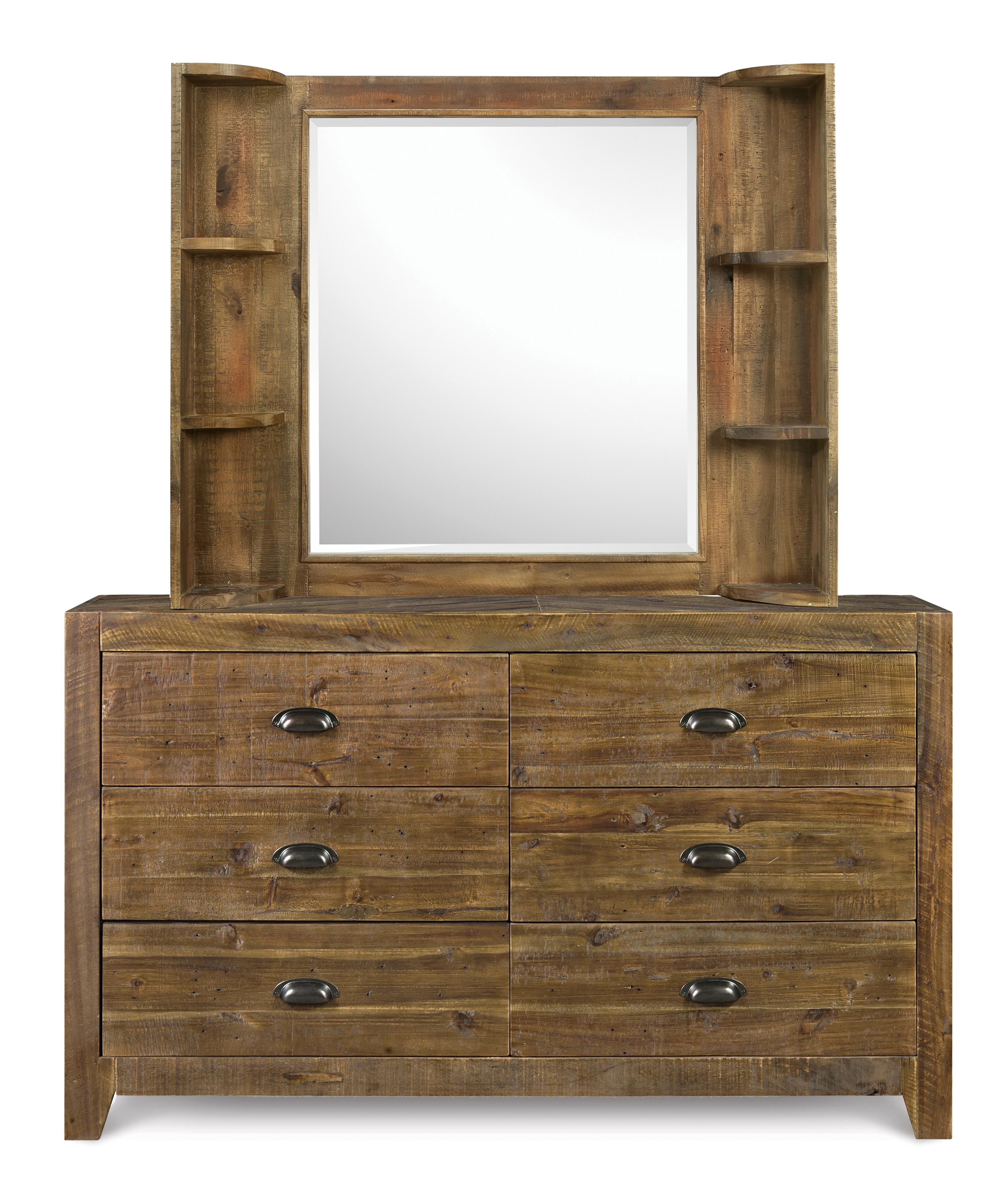 Next Generation by Magnussen Braxton Dresser & Mirror - Item Number: Y2377-20+Y2377-48