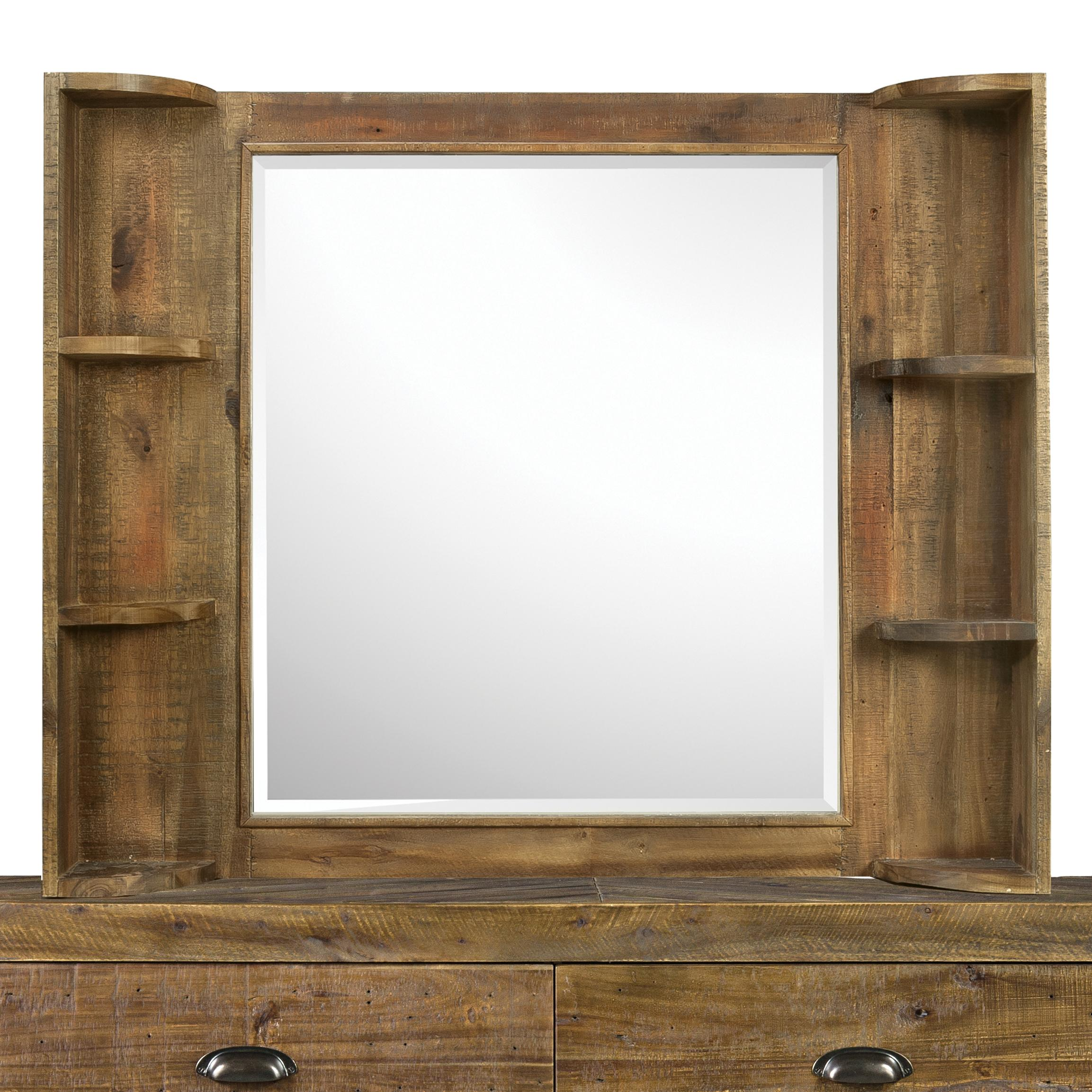 Next Generation by Magnussen Braxton Landscape Mirror with Shelves - Item Number: Y2377-48