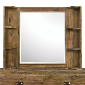 Next Generation by Magnussen Braxton Landscape Mirror with Shelves