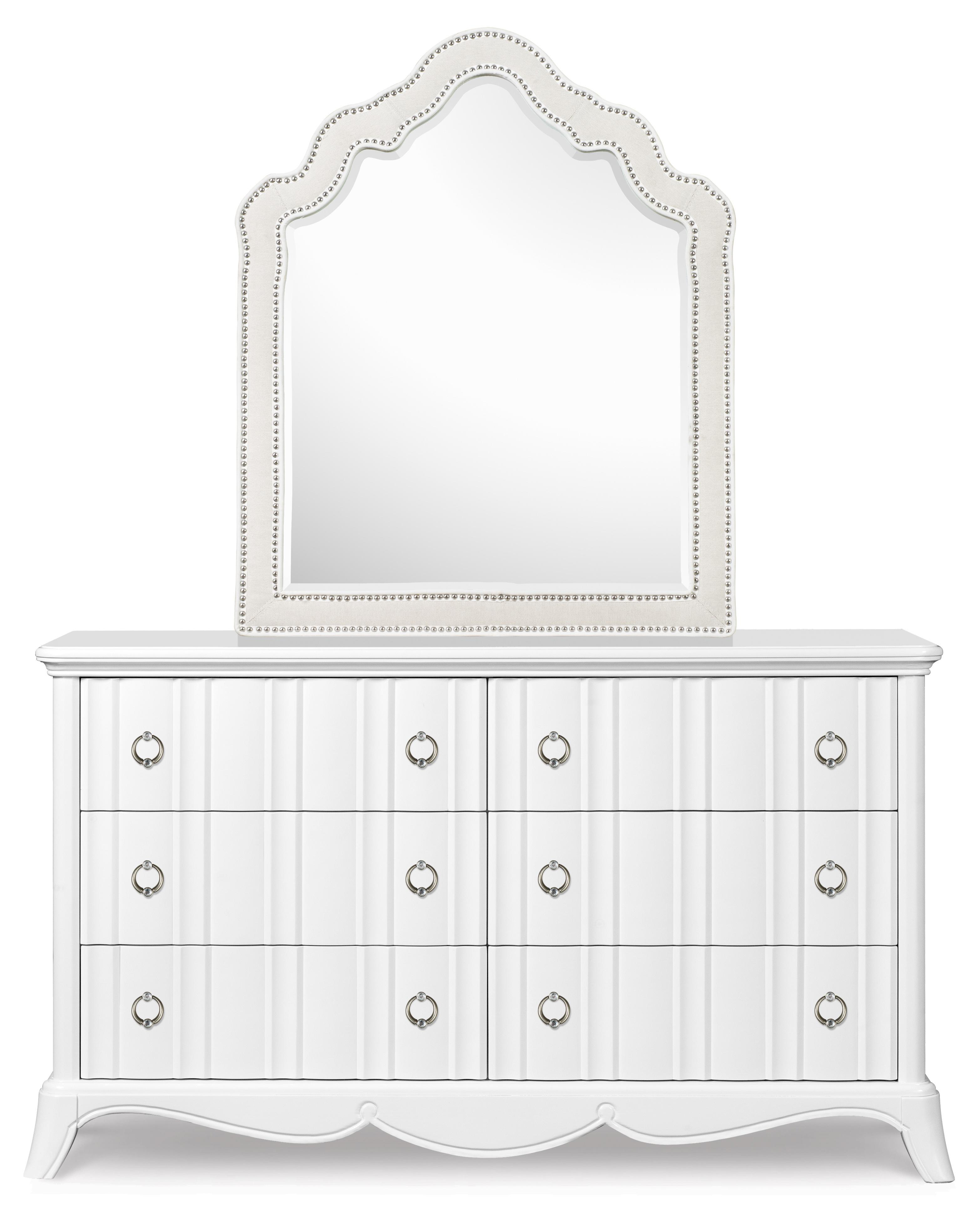 Next Generation by Magnussen Gabrielle Youth Drawer Dresser and Shaped Mirror - Item Number: Y2194-20+45