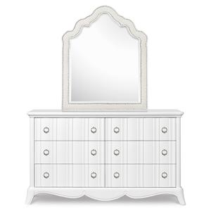 Next Generation by Magnussen Gabrielle Youth Drawer Dresser and Shaped Mirror
