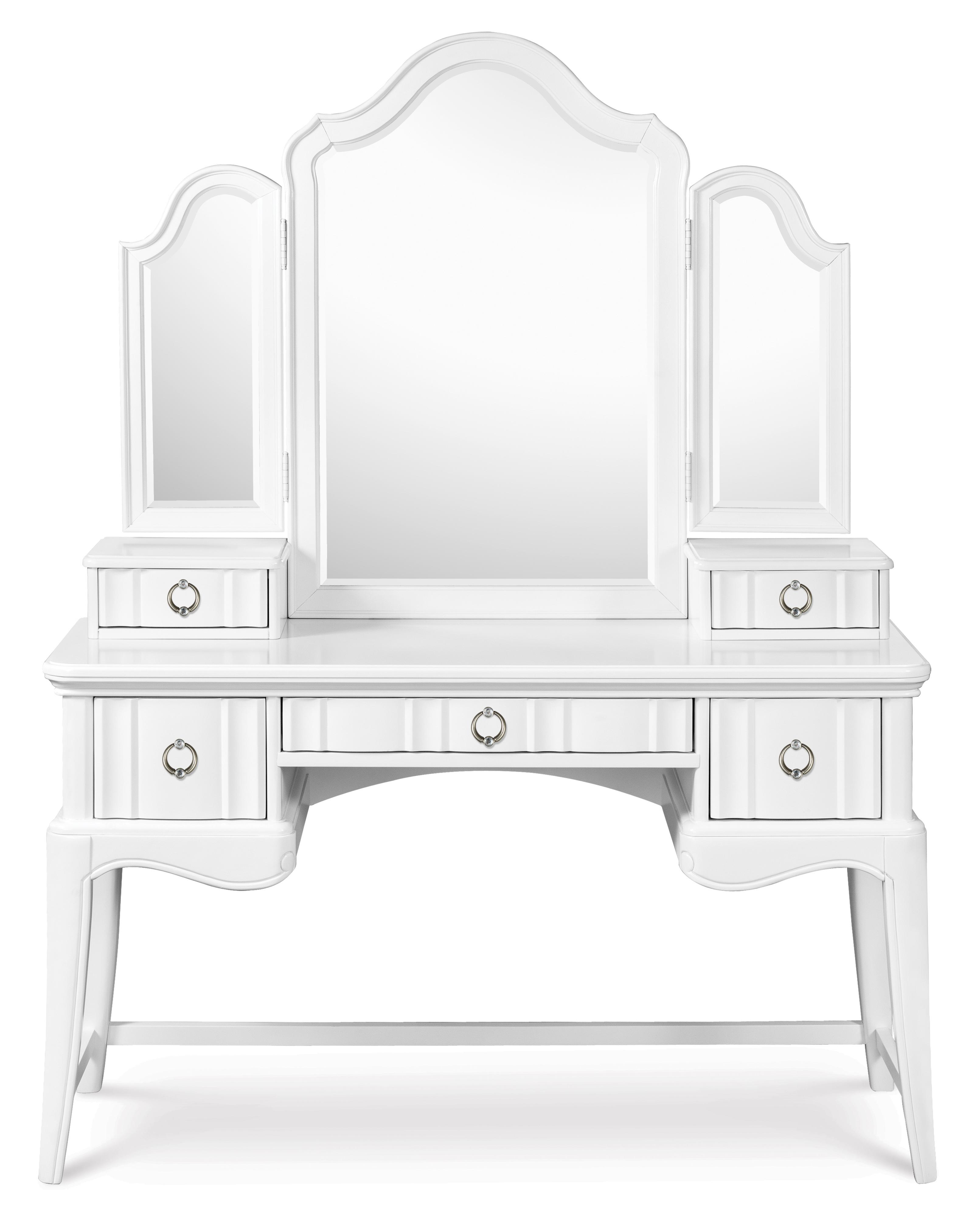 Next Generation by Magnussen Gabrielle Youth Desk with Vanity Tri-Fold Mirror - Item Number: Y2194-30+47