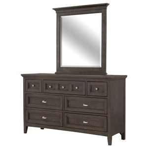 Next Generation by Magnussen Westley Falls Dresser and Mirror Set