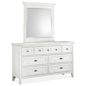 Next Generation by Magnussen Heron Cove Dresser and Mirror Set