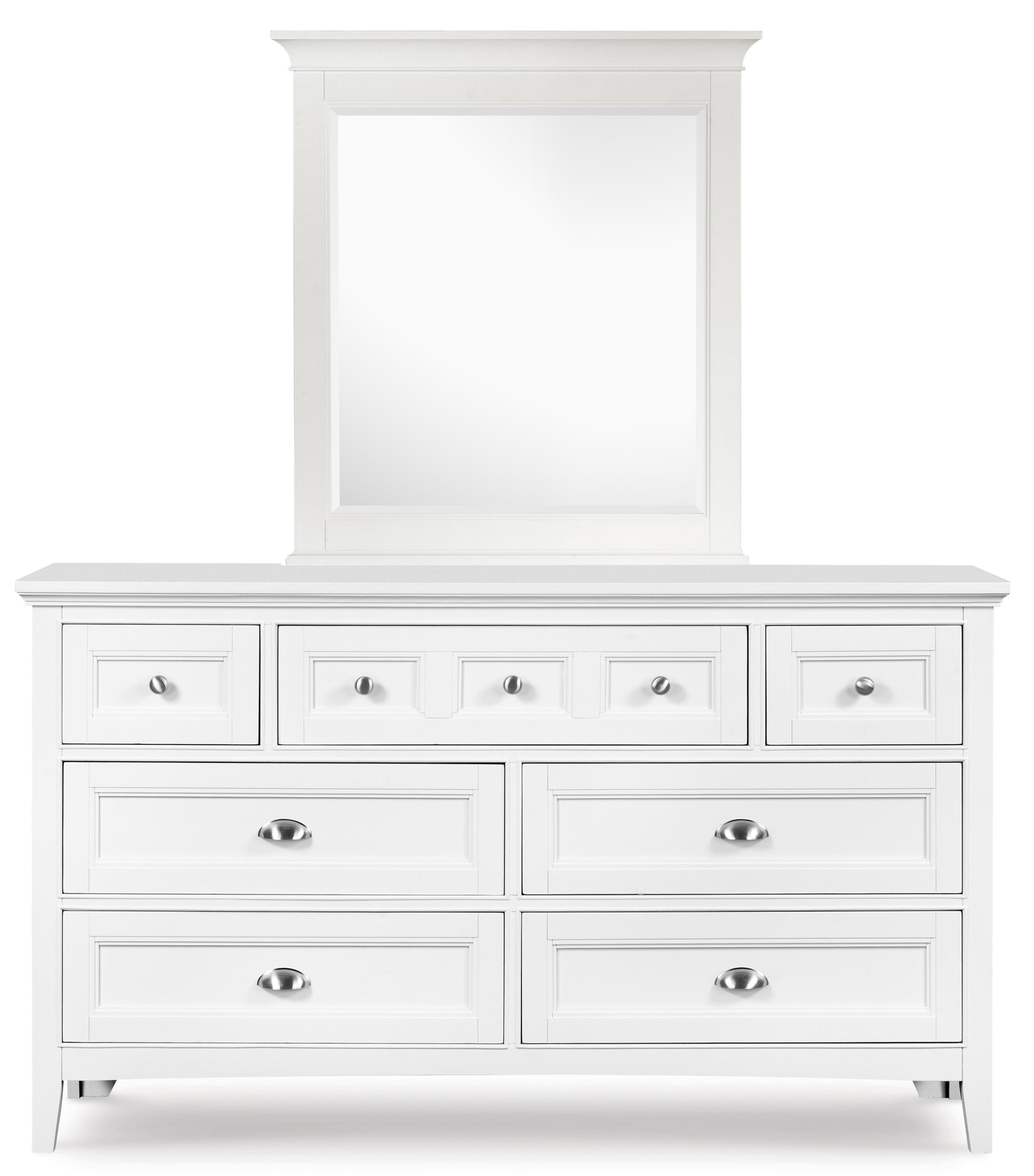 Next Generation by Magnussen Kenley Drawer Dresser and Portrait Mirror - Item Number: Y1875-20+42