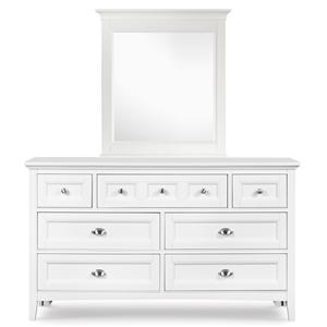 Next Generation by Magnussen Kenley Drawer Dresser and Portrait Mirror
