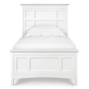Next Generation by Magnussen Kenley Twin Panel Bed with 2 Storage Rails