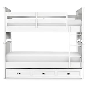 Next Generation by Magnussen Hayden White Twin-over-Twin Bunk Bed with Trundle