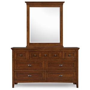 Next Generation by Magnussen Hayden Cherry Dresser and Mirror