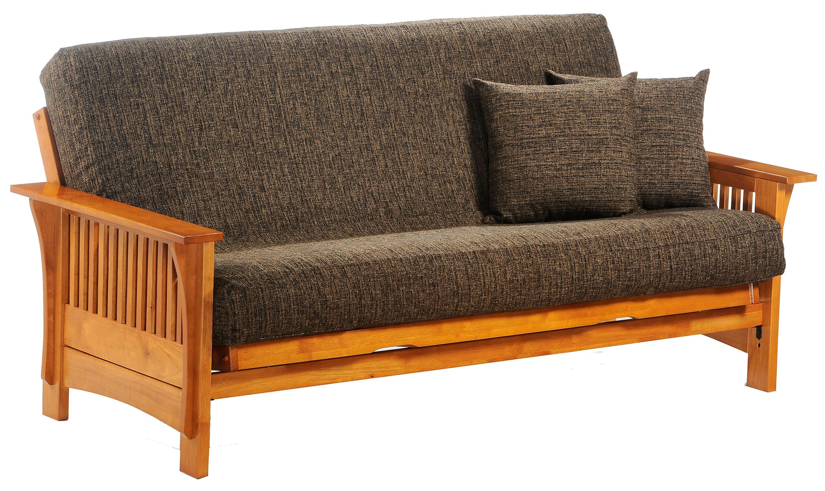 Autumn Honey Oak Queen Size Futon by Night & Day Furniture at Furniture and ApplianceMart