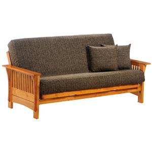 Night & Day Furniture Autumn Honey Oak Queen Size Futon