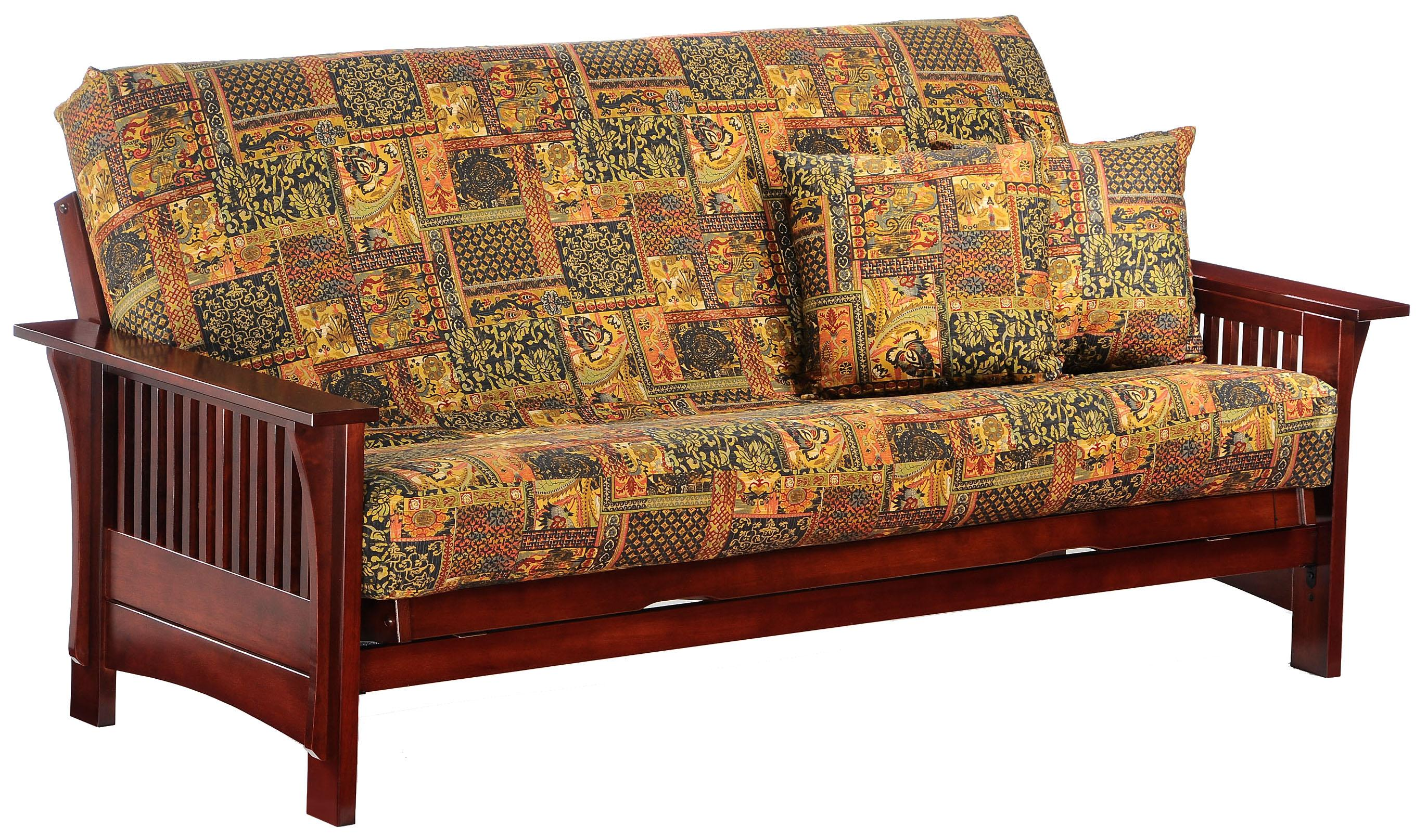 Autumn Rosewood Chair Size Futon by Night & Day Furniture at Furniture and ApplianceMart