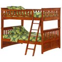 Night & Day Furniture Spice Full Bunk Bed - Item Number: PBFF1-GIN-CH+PBFF2+PBFF3+PBFF4