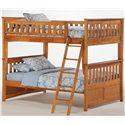 Night & Day Furniture Spice Full Bunk Bed - Item Number: PBFF1-GIN-MO+PBFF2+PBFF3+PBFF4