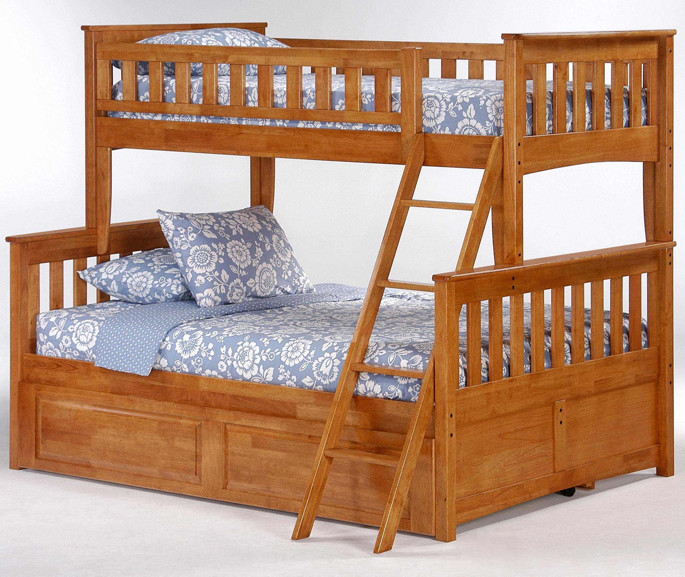 4 Day Furniture: Night & Day Furniture Spice Ginger Twin/Full Bunk Bed With