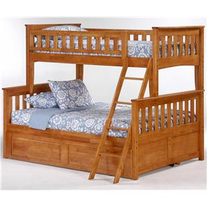 Night & Day Furniture Spice Twin/Full Bunk Bed with Trundle