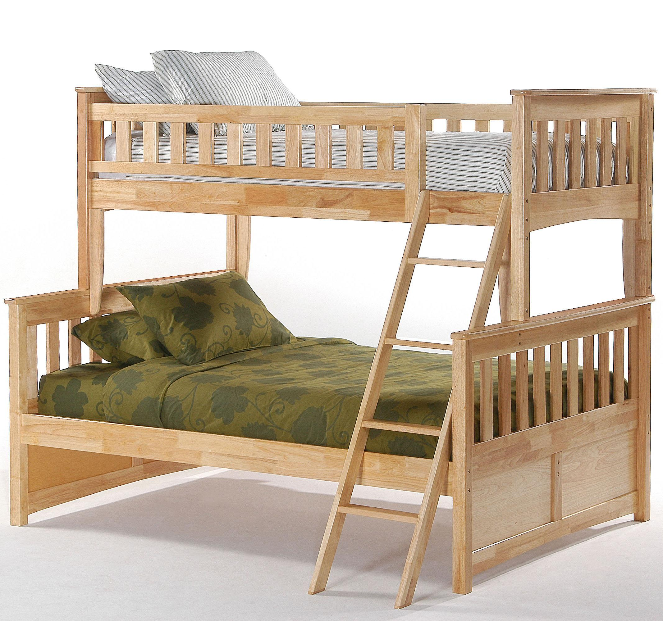4 Day Furniture: Night & Day Furniture Spice Ginger Twin/Full Bunk Bed
