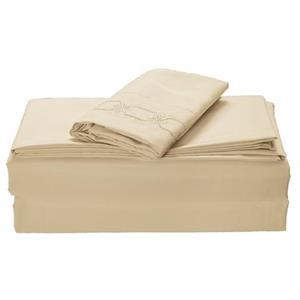 None Kanma Bed Sheet Set  - BSEM17-BEIGE-QN