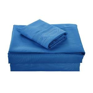 None Kanma Bed Sheet Set  - BSEM17-BLU-QN