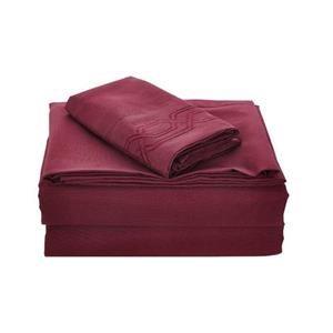 None Kanma Bed Sheet Set  - BSEM17-BURG-QN