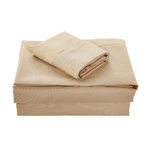 None Kanma Bed Sheet Set  - BSEM17-CAMEL-QN