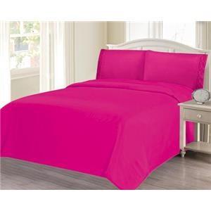None Kanma Bed Sheet Set  - BSEM17-FUSCHA-QN