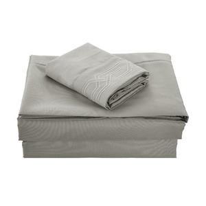 None Kanma Bed Sheet Set  - BSEM17-GREY-QN