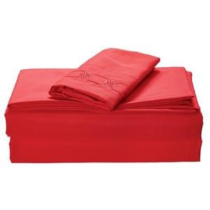 None Kanma Bed Sheet Set  - bsem17-red-qn
