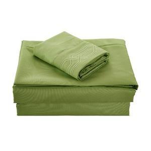None Kanma Bed Sheet Set  - BSEM17-SAGE-QN