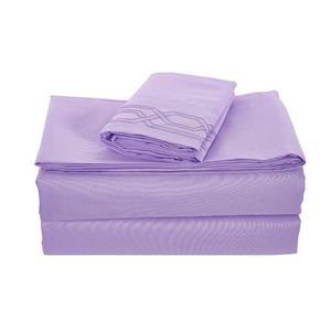 None Kanma Bed Sheet Set  - BSEM17-VIOL-QN