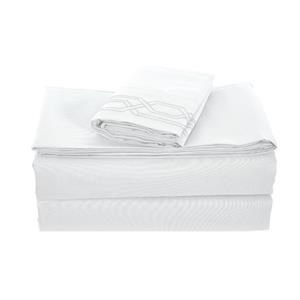 None Kanma Bed Sheet Set  - bsem17-wht-qn