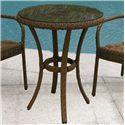 "NorthCape International Avalon 24"" Bistro Table w/ Glass - Item Number: NC4070WG-B024+GL-CAPPUCCINO"