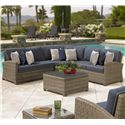 Chicago Wicker Bainbridge Outdoor Sectional - Item Number: NC275LL+SCC45+RL
