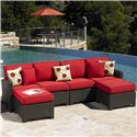 NorthCape International Cabo Outdoor Sectional - Item Number: NC270LL+RL+O+CUSH270LL+RL+2xO