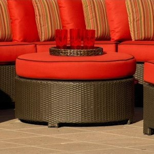 NorthCape International Cabo Round Outdoor Ottoman