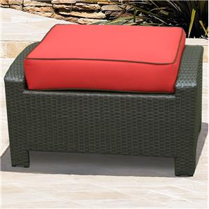 NorthCape International Cabo Rectangle Ottoman w/ Cushion