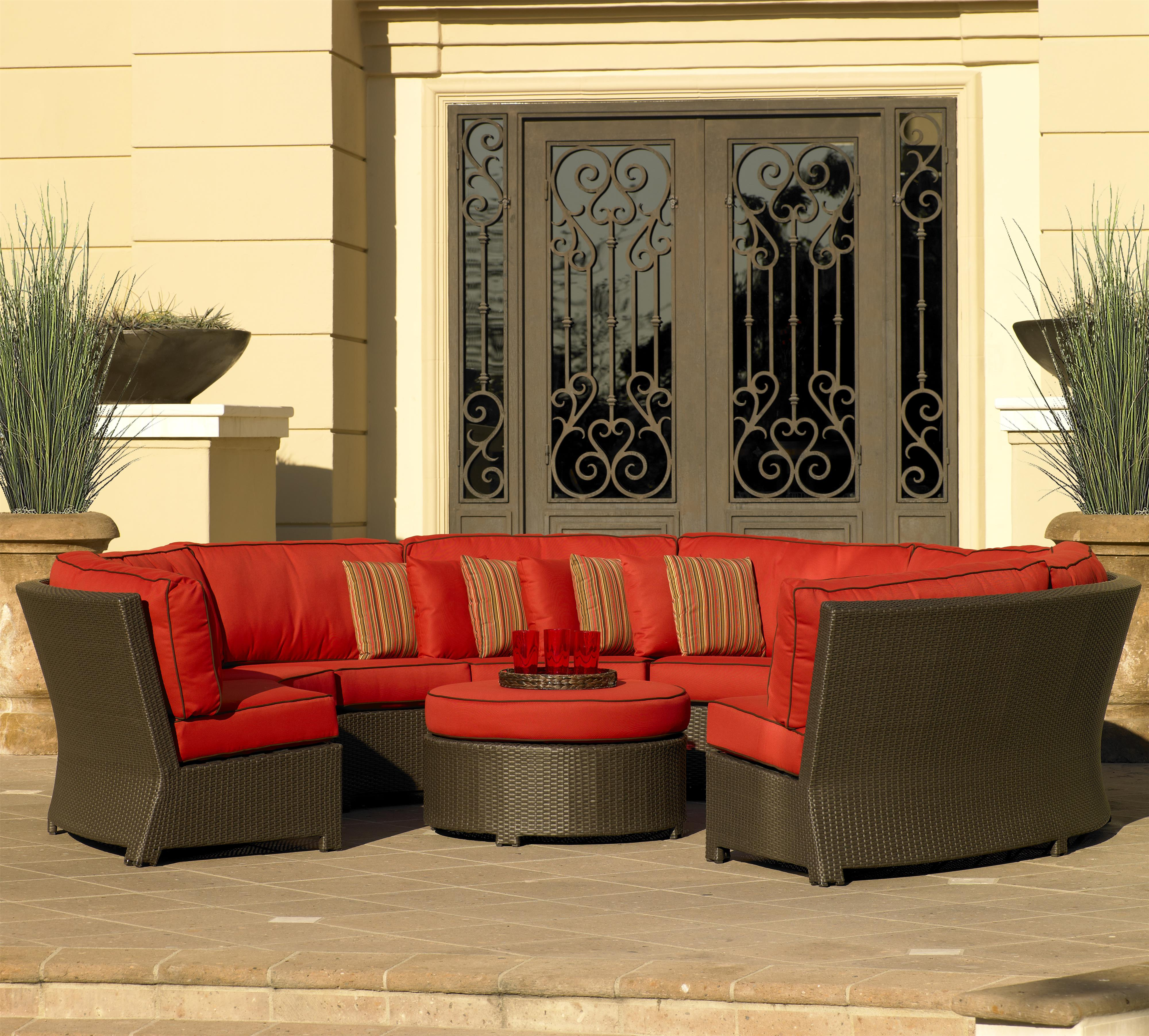 Great NorthCape International Cabo 8pc Curved Sectional   Item Number:  NC270SCx3+CUSH2703SCx3