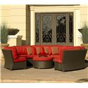 NorthCape International Cabo 8pc Curved Sectional - Item Number: NC270SCx3+CUSH2703SCx3