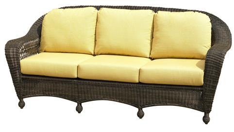 Northcape International Charleston Wicker Sofa John V Schultz Furniture Outdoor Sofas