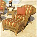 NorthCape International Charleston Chair and Ottoman - Item Number: NC457C+NC4570-WL+CUSH600C+CUSH600O
