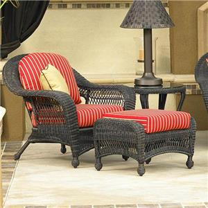 NorthCape International Charleston Chair and Ottoman