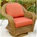 NorthCape International Charleston Glider Club Chair - Item Number: NC457SG-WL+CUSH600C