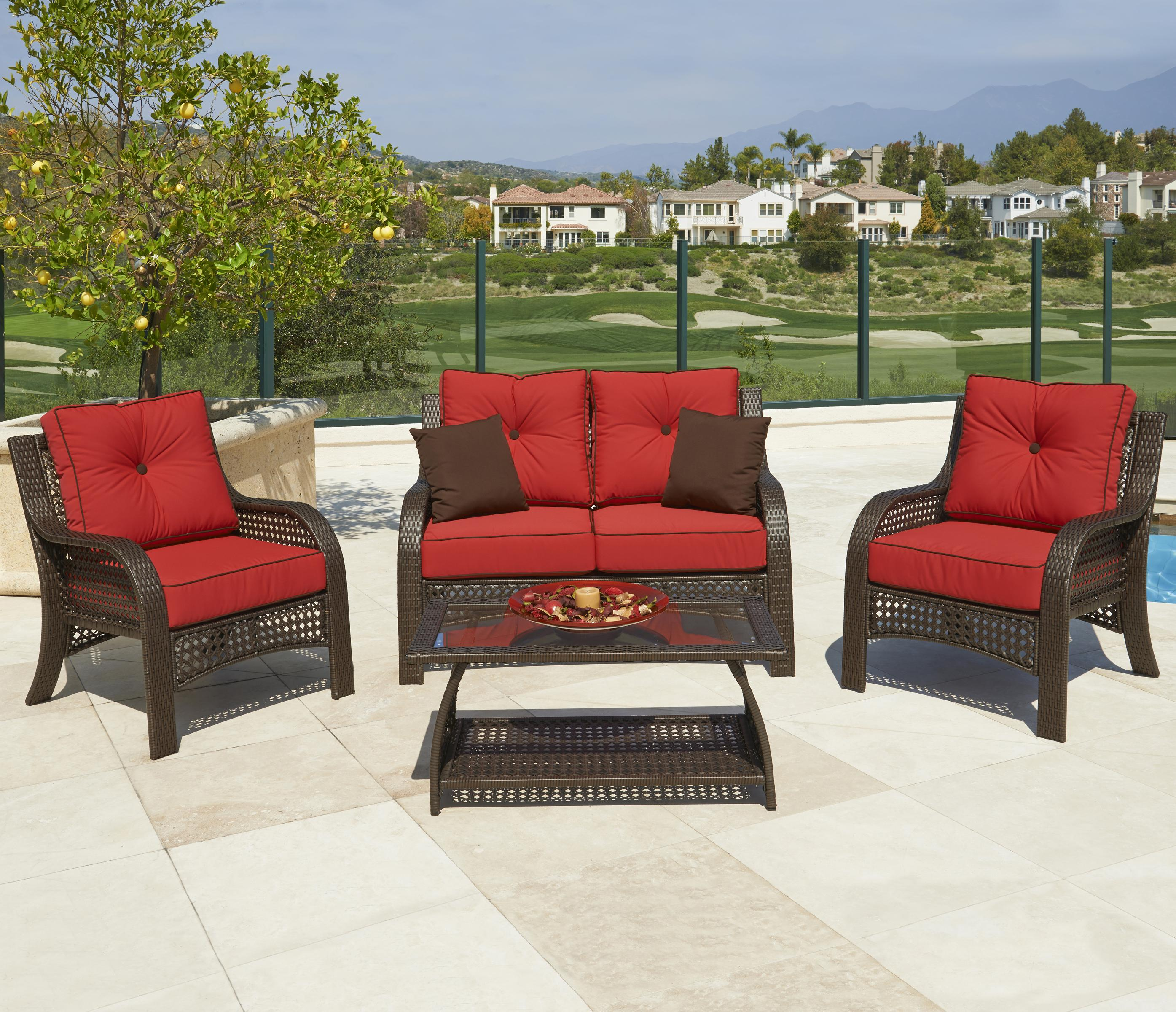 NorthCape International Chelsea Outdoor 4 Pc Chat Set