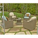 NorthCape International Covington 5 Pc. Outdoor Chat Set - Item Number: 325 Chat Set