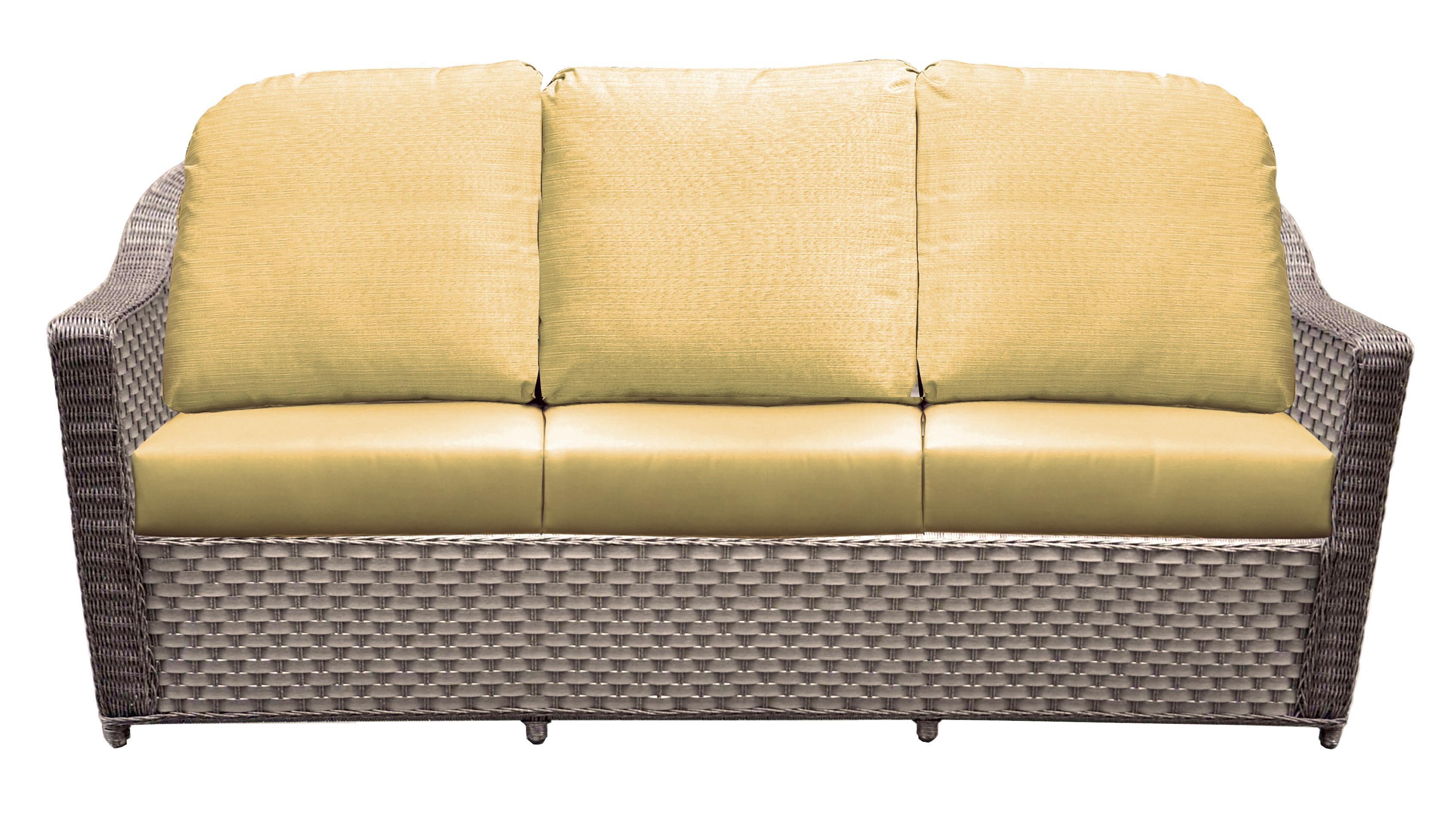 Northcape International Covington Wicker Three Seater Sofa