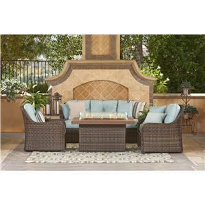 NorthCape International FLORENTINE Outdoor Wicker Sofa