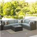 NorthCape International Malibu Outdoor Sectional  - Item Number: NC260SCL+3xSCM+SCC+SCR